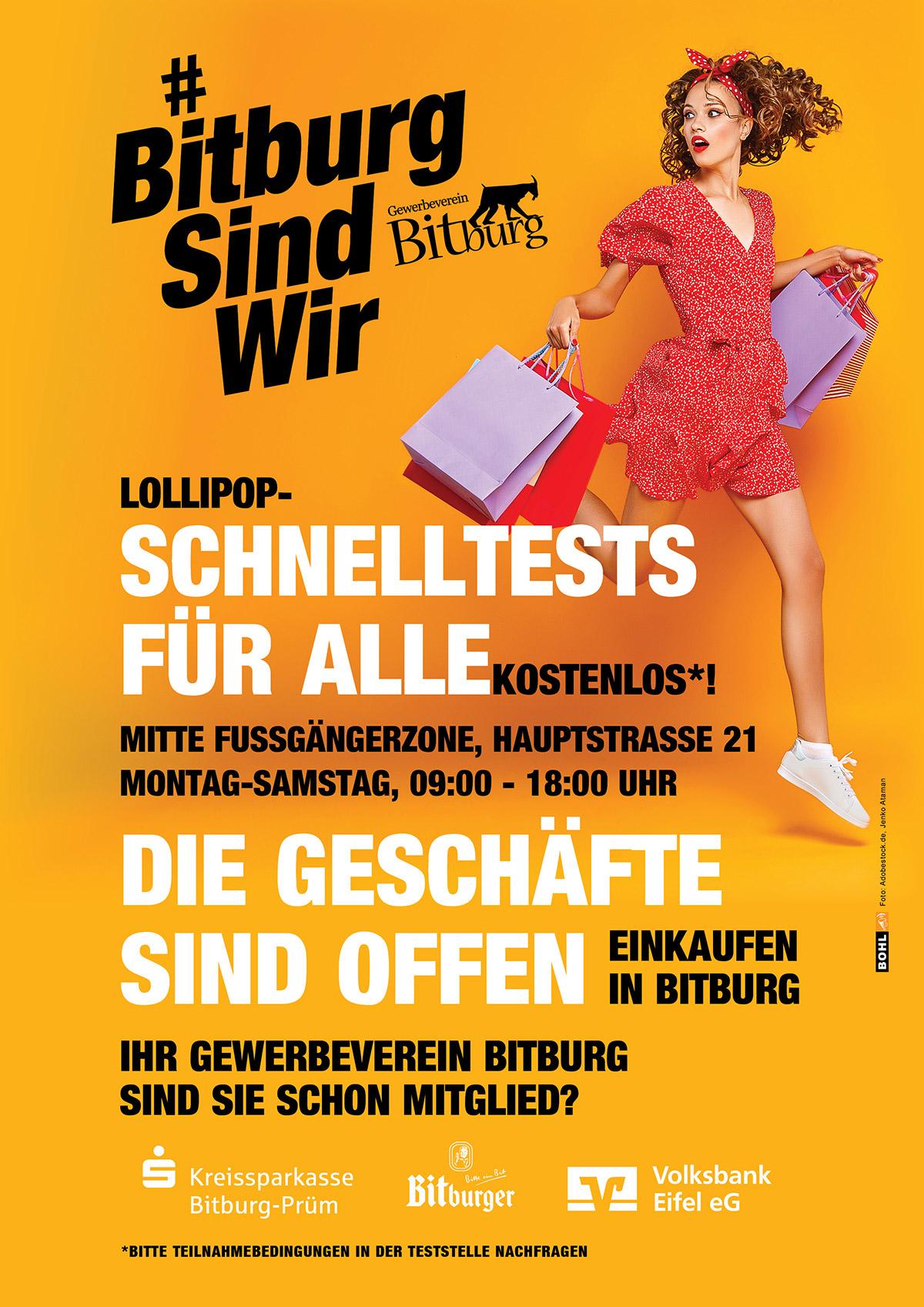 LOLLIPOP - SCHNELLTESTS FÜR ALLE - KOSTENLOS! Gewerbeverein Bitburg e.V.