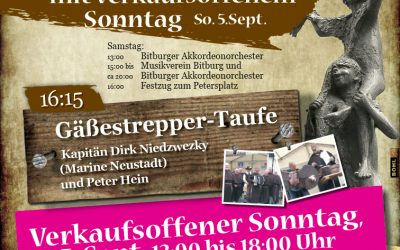 Sa. 04. Sept. Bitburger Gäßestrepperfest mit verkaufsoffenem Sonntag am 05. Sept.