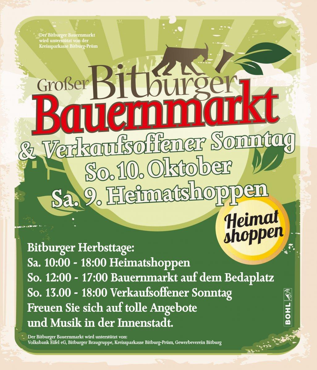 Sa. 04. Sept. Bitburger Gäßestrepperfest mit verkaufsoffenem Sonntag am 05. Sept. An beiden Tagen werden in der Innenstadt Musik, Kinderunterhaltung und gastronomische Angebote zu erleben sein.