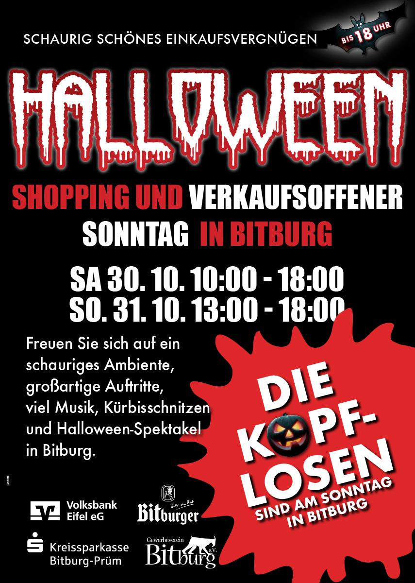 Halloween Shopping Plakat - Gewerbeverein Bitburg e.V.